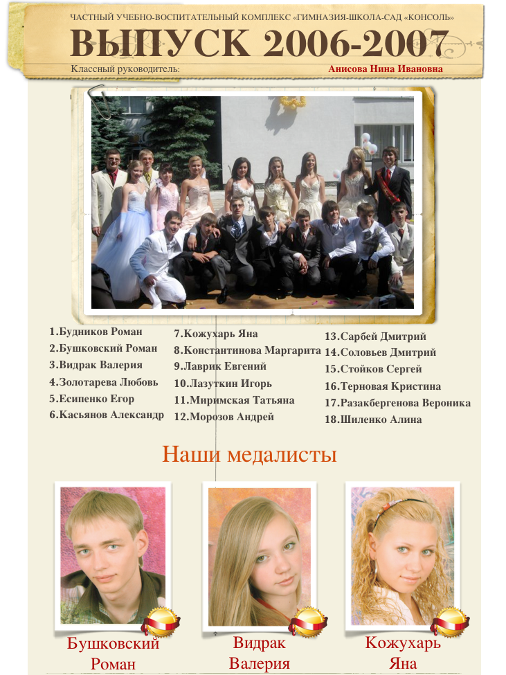 Выпуск 2006-2007