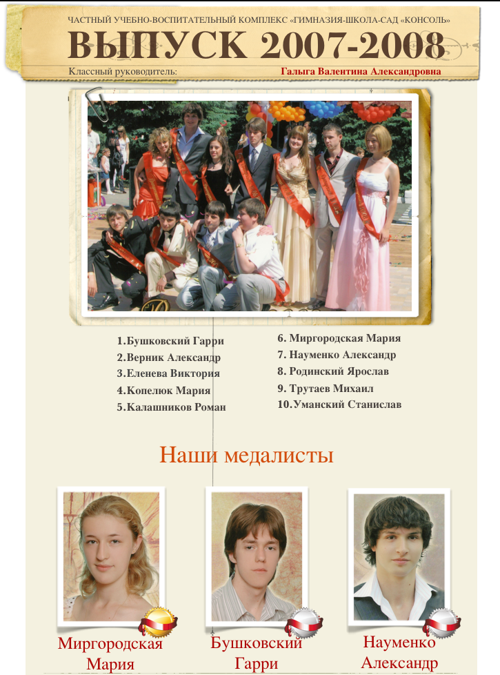 Выпуск 2007-2008