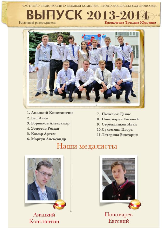 Выпуск 2013-2014