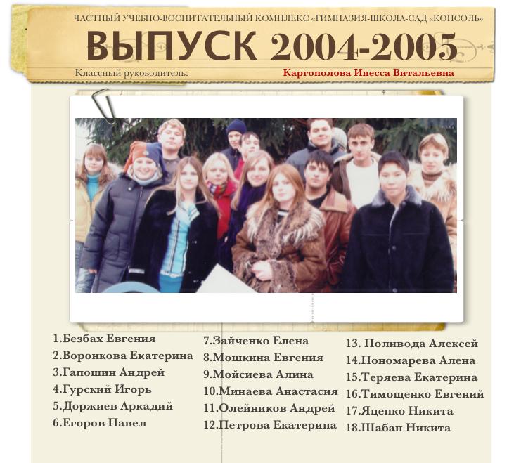 Выпуск 2004-2005 1
