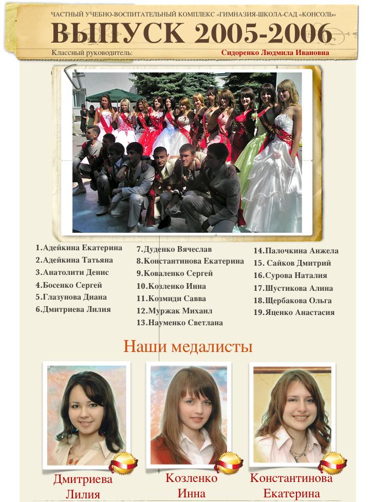 Выпуск 2005-2006 1